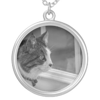 Dreaming Of Warmer Weather Grayscale Silver Plated Necklace