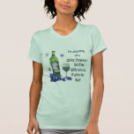 Dreaming of White Christmas, Funny Wine Art Gifts T-Shirt