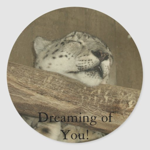 Dreaming of You! Round Sticker