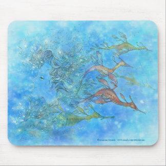 Dreaming on Aquamarine Tides Mousepad