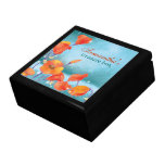 Dreaming Poppies Elegant Floral Jewelry Gift Box