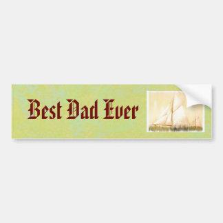 Dreaming Sails Father's Day custom Car Bumper Sticker