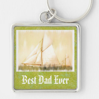 Dreaming Sails Father's Day custom keychain