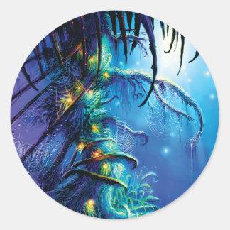 Dreaming Tree Classic Round Sticker