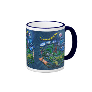 Dreaming with the Fishes Ringer Mug