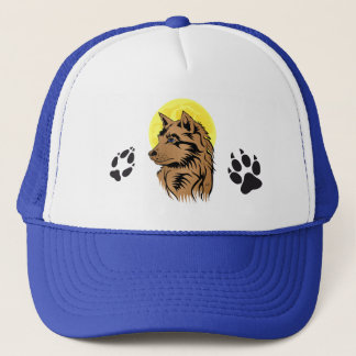 dreaming wolf baby trucker hat