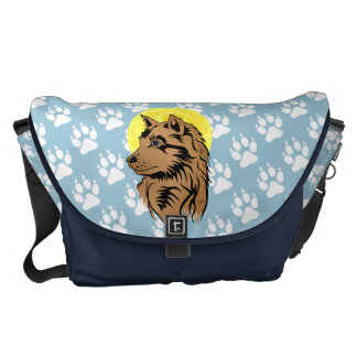 dreaming wolf puppy bag