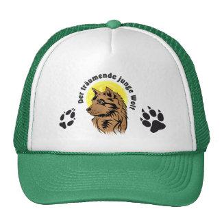 dreaming wolf puppy trucker hat