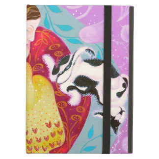 Dreaming Woman and Cat. iPad Covers