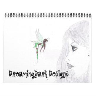 DreamingDark Designs 2009 Calender Wall Calendar