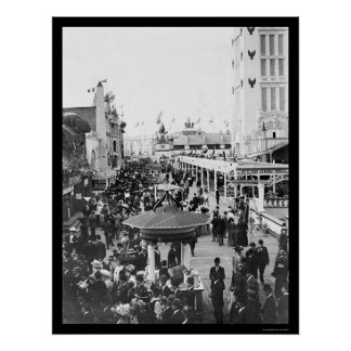 Dreamland, Coney Island, New York City 1912 Poster