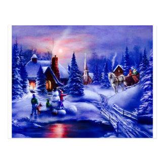 Dreamland del invierno tarjeta postal