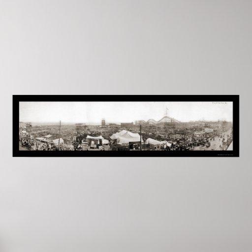 Dreamland Destruction Photo 1911 Poster