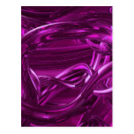 DREAMLAND PINK PURPLE ABSTRACT WALLPAPER BACKGROU POST CARDS