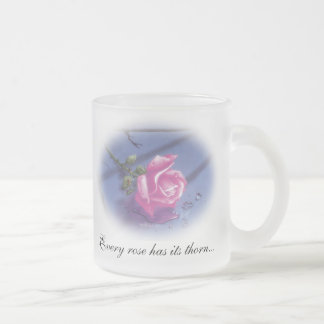 DreamLight® Rose Quote Frosted Glass Mug
