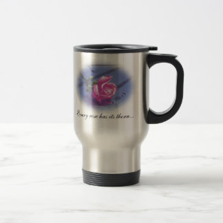 DreamLight® Rose Quote Stainless Steel Travel Mug