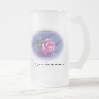 DreamLight® Rose Quote Tall Frosted Glass Mug