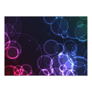 """DREAMLIKE BOHEK BUBBLES CIRCLES BLACK BACKGROUND D 5"""" X 7"""" INVITATION CARD"""