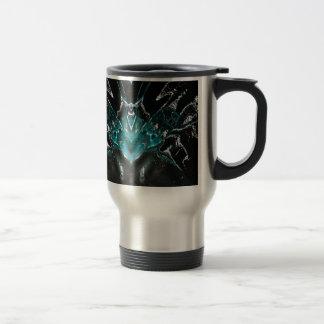 dreamlike fluids aqua 15 oz stainless steel travel mug