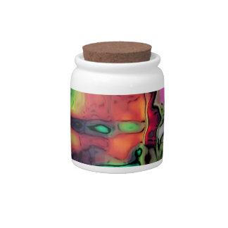 dreamlike fluids colorful candy jar