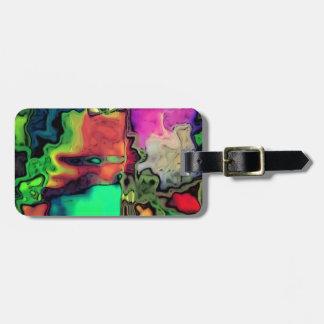 dreamlike fluids colorful tag for luggage