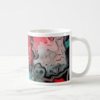 dreamlike fluids red classic white coffee mug