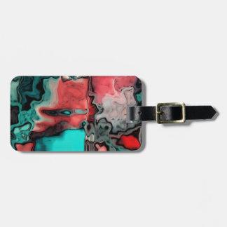 dreamlike fluids red luggage tag