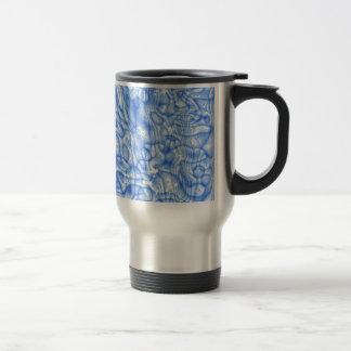 dreamlike fluids soft blue 15 oz stainless steel travel mug