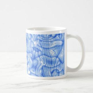 dreamlike fluids soft blue classic white coffee mug