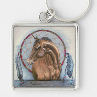 """DreamLike"" Horse and dream catcher original art Keychain"