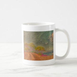 dreamlike landscape classic white coffee mug