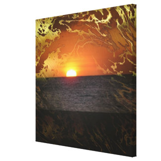 dreamly evening stretched canvas prints