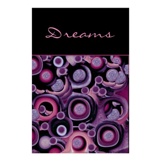 Dreams - Abstract Purple and Pink Print