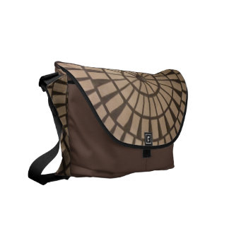 Dreams Abstract Wheel in Wheel Pattern Black Base Courier Bags