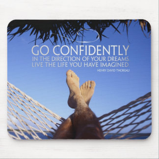 Dreams and Life Inspirational Mouse Pad