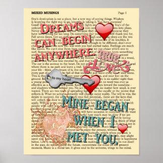 Dreams And You -- Romantic Print