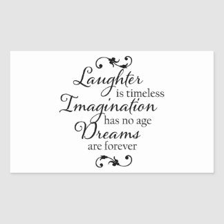 Dreams are forever rectangular sticker
