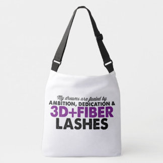 Dreams are fueled by 3D Fiber Lashes Crossbody Bag