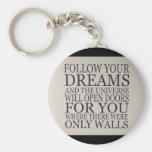 dreams basic round button keychain