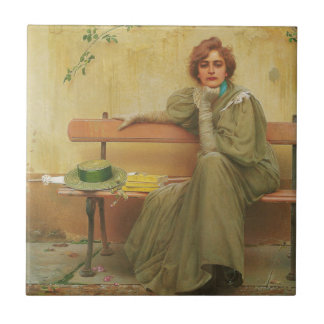 Dreams by Vittorio Matteo Corcos 1896 Ceramic Tile