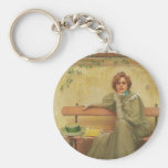 Dreams by Vittorio Matteo Corcos 1896 Key Chains