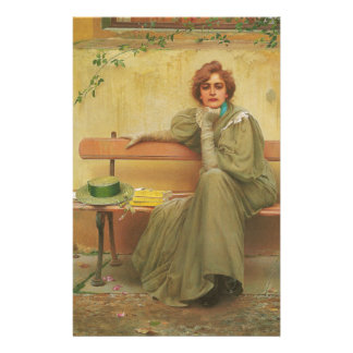 Dreams by Vittorio Matteo Corcos 1896 Stationery