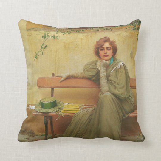 Dreams by Vittorio Matteo Corcos 1896 Throw Pillow