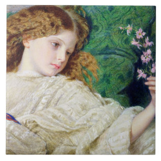 Dreams, c.1861 (w/c, bodycolour and gum over graph large square tile