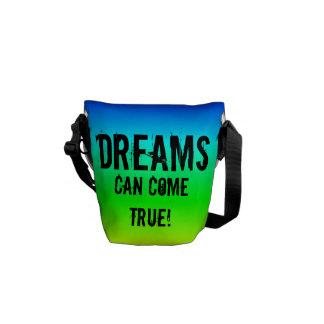 Dreams can come true! multi-colored bag messenger bags