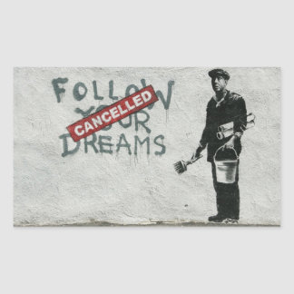 Dreams Cancelled Rectangular Sticker