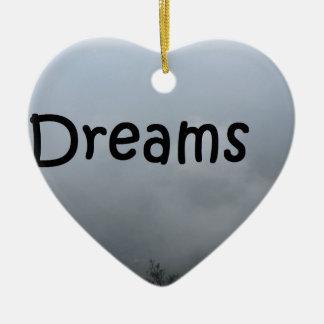 dreams ceramic ornament