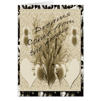 Dreams Come From The Heart Greeting Card