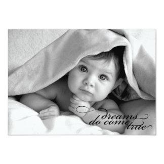 """Dreams Do Come True {Birth Announcement} 5"""" X 7"""" Invitation Card"""