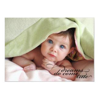 Dreams Do Come True {Birth Announcement} 5x7 Paper Invitation Card